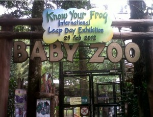 Many visitors came to the special frog exhibition at the Baby Zoo at Taman Safari.